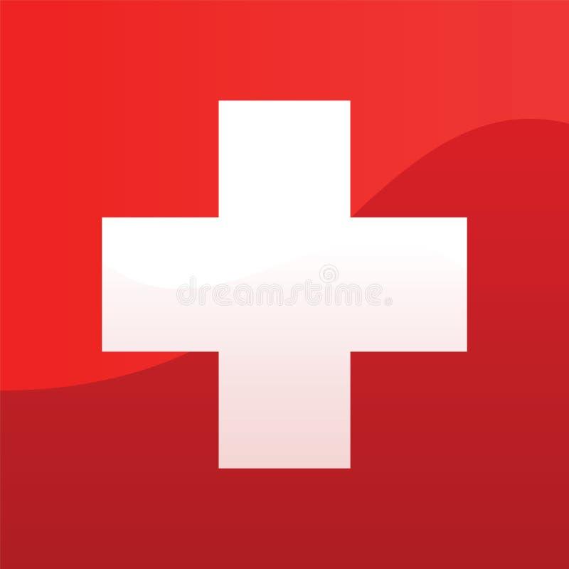 σημαία Ελβετός ελεύθερη απεικόνιση δικαιώματος