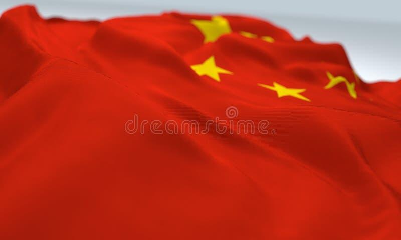 σημαία ζουμ της Κίνας στοκ φωτογραφία με δικαίωμα ελεύθερης χρήσης