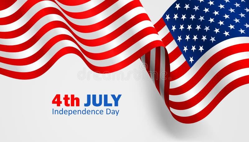 Σημαία Ηνωμένες Πολιτείες της Αμερικής διάνυσμα διανυσματική απεικόνιση