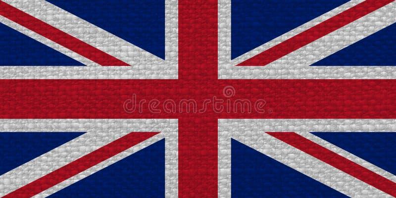 σημαία Ηνωμένο (UK) aka Union Jack με τη σύσταση υφάσματος στοκ εικόνα