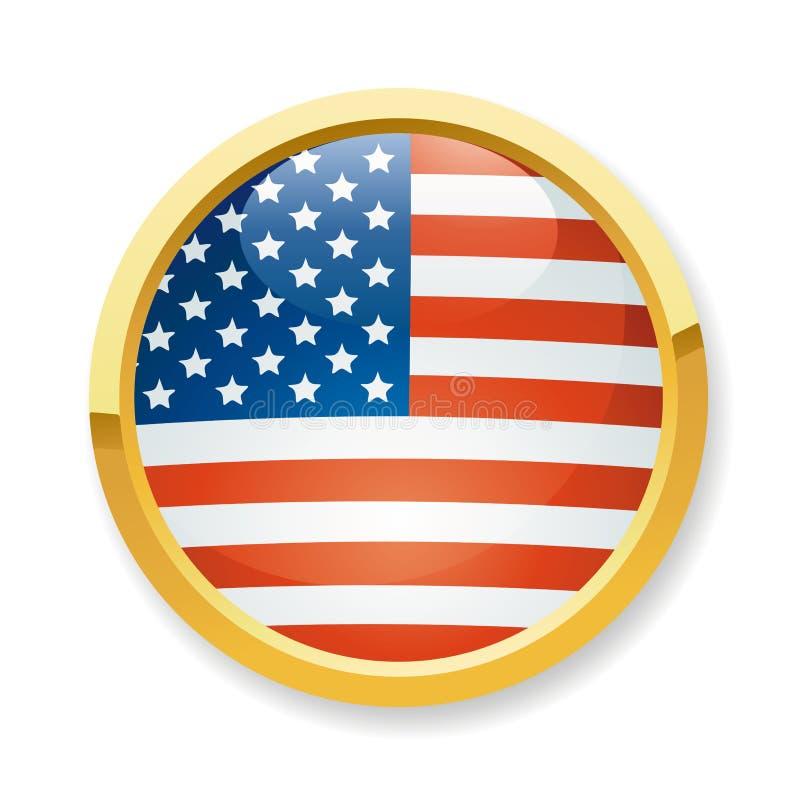 σημαία ΗΠΑ κουμπιών ελεύθερη απεικόνιση δικαιώματος