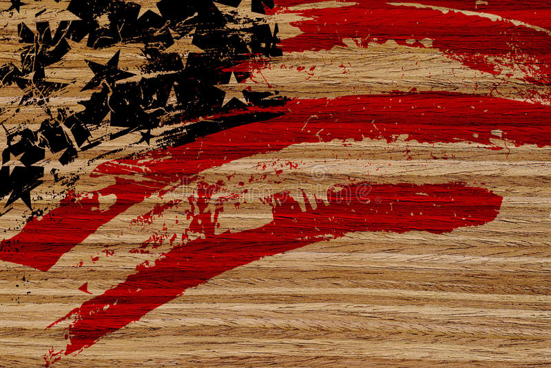 Σημαία ΗΠΑ που χρωματίζεται στο ξύλο απεικόνιση αποθεμάτων