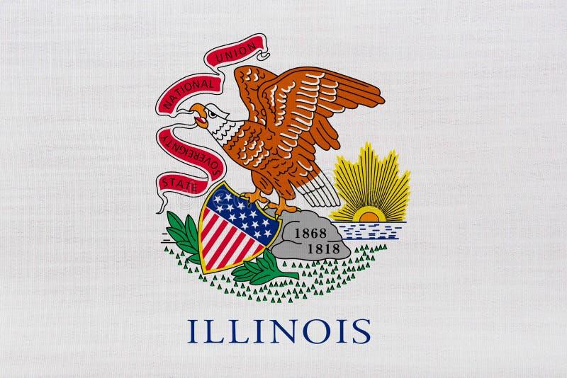σημαία Ιλλινόις στοκ εικόνα