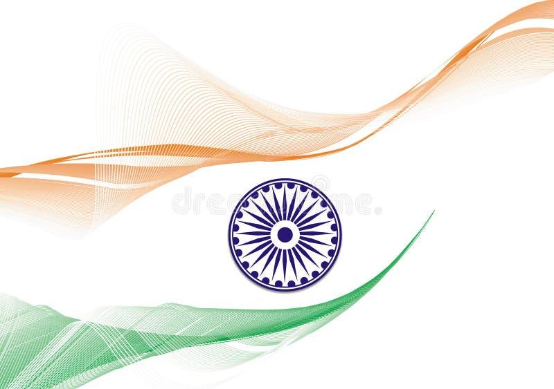 σημαία Ινδία διανυσματική απεικόνιση