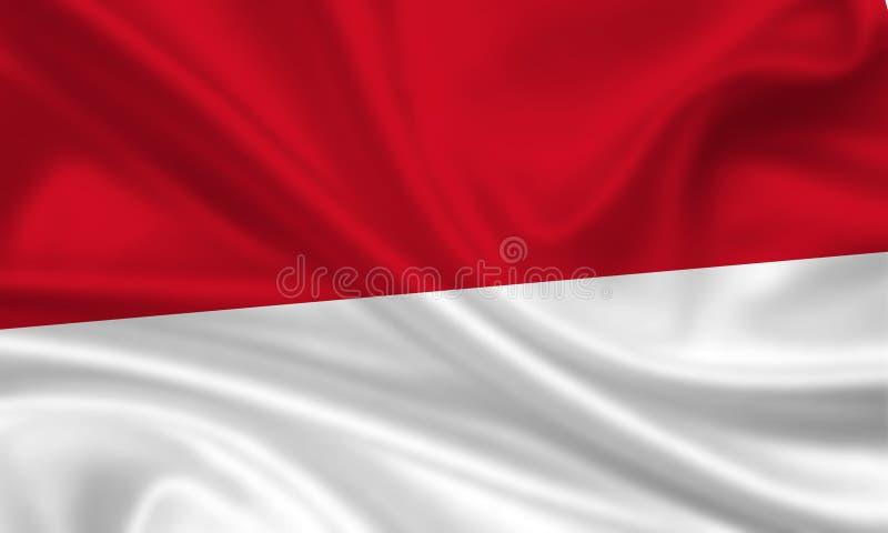 σημαία Ινδονησία Μονακό απεικόνιση αποθεμάτων