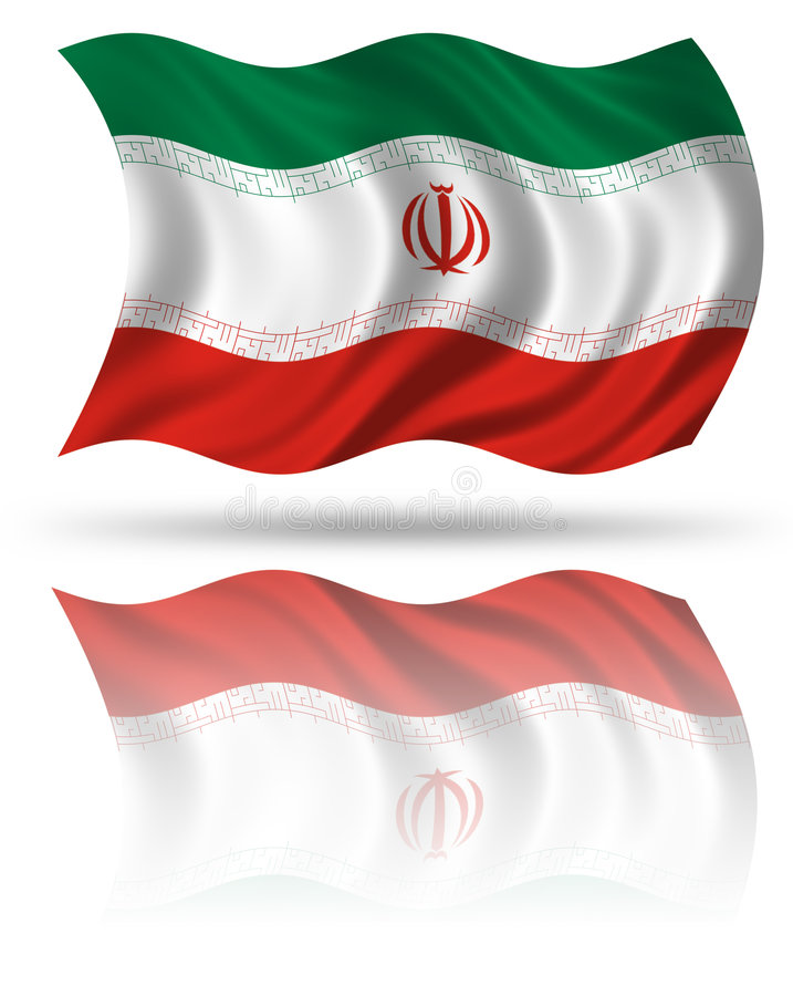 σημαία Ιράν διανυσματική απεικόνιση