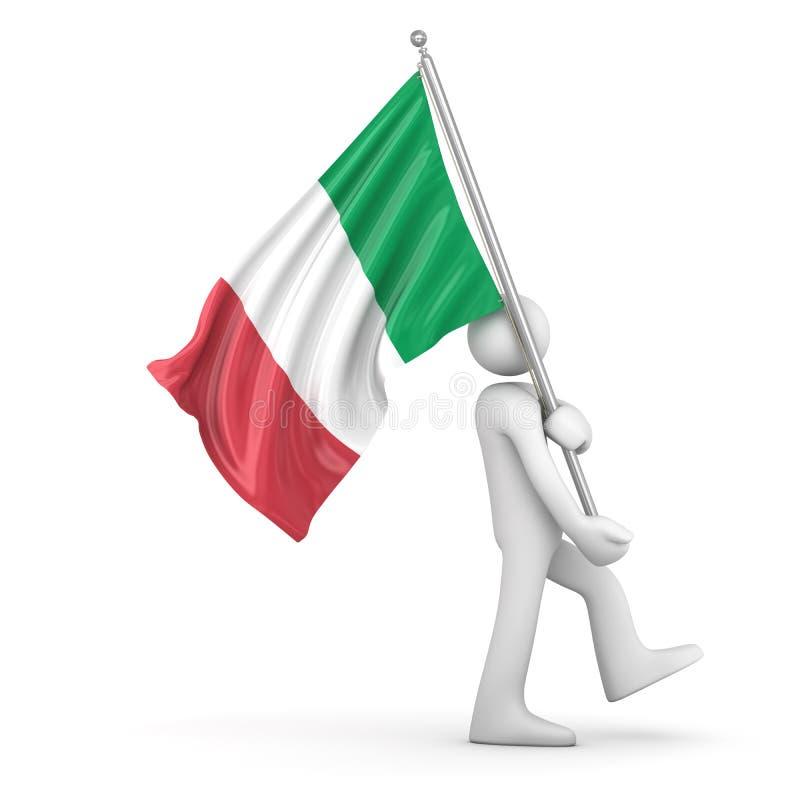 σημαία Ιταλία ελεύθερη απεικόνιση δικαιώματος