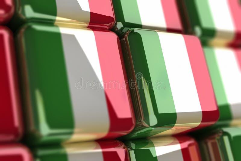 σημαία ιταλικά κύβων διανυσματική απεικόνιση
