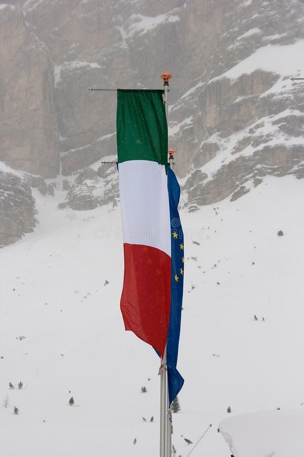 σημαία ιταλικά της ΕΕ στοκ φωτογραφία με δικαίωμα ελεύθερης χρήσης