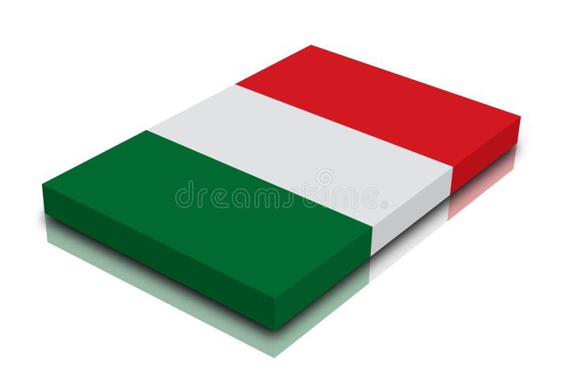 σημαία ιταλικά διανυσματική απεικόνιση