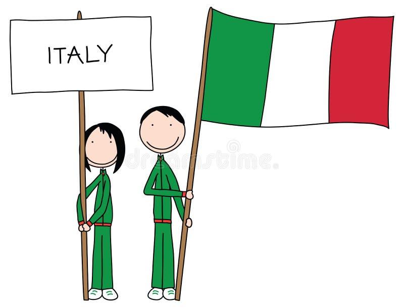 σημαία ιταλικά απεικόνιση αποθεμάτων