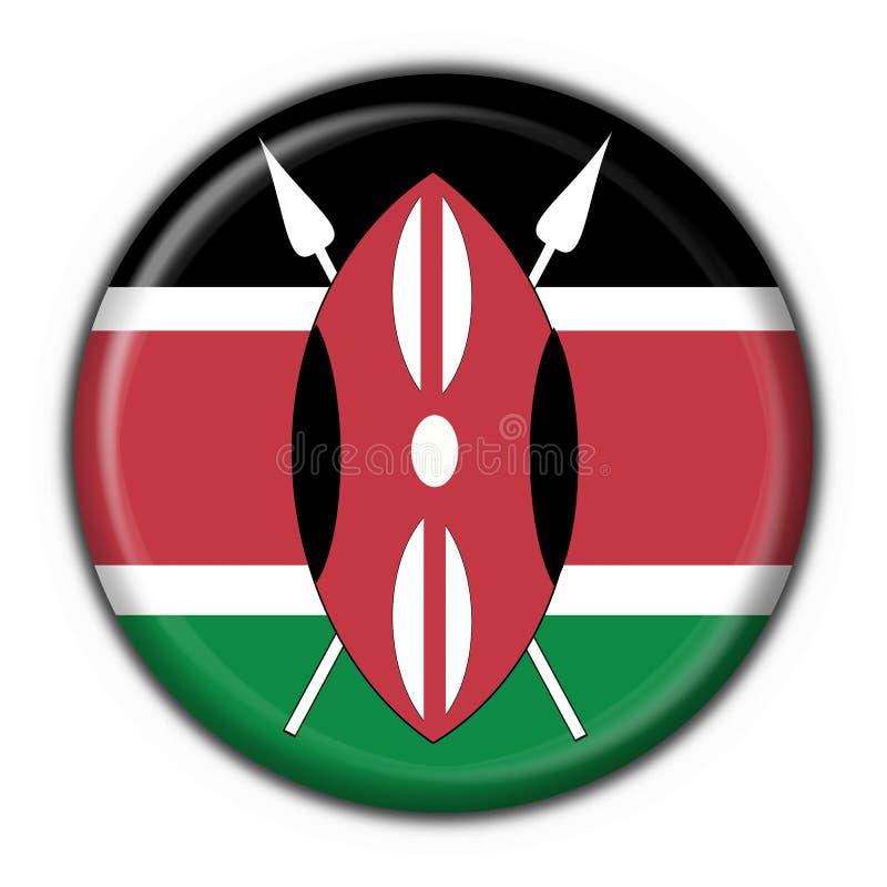 σημαία Κένυα κουμπιών γύρω από τη μορφή απεικόνιση αποθεμάτων