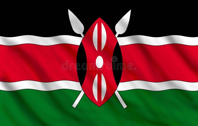 σημαία Κένυα ελεύθερη απεικόνιση δικαιώματος