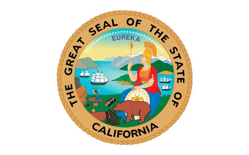 Σημαία Καλιφόρνιας, ΗΠΑ στοκ εικόνες με δικαίωμα ελεύθερης χρήσης