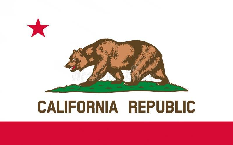 Σημαία Καλιφόρνιας, ΗΠΑ στοκ εικόνες