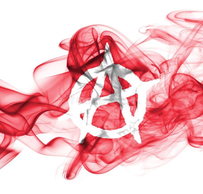 Σημαία καπνού αναρχίας που απομονώνεται σε ένα άσπρο υπόβαθρο στοκ φωτογραφία
