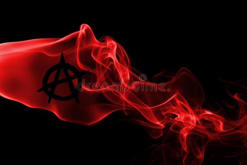 Σημαία καπνού αναρχίας στοκ εικόνα