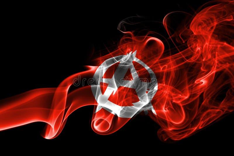 Σημαία καπνού αναρχίας στοκ εικόνες