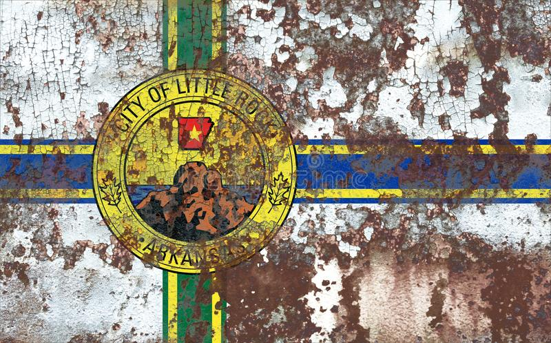 Σημαία καπνού πόλεων Λιτλ Ροκ, κράτος του Αρκάνσας, Πολιτεία του AM στοκ φωτογραφίες με δικαίωμα ελεύθερης χρήσης