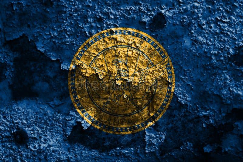 Σημαία καπνού πόλεων της Ατλάντας, κράτος της Γεωργίας, Ηνωμένες Πολιτείες της Αμερικής στοκ εικόνα