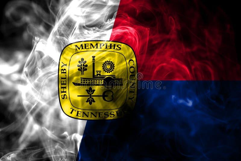 Σημαία καπνού πόλεων της Μέμφιδας, κράτος του Τένεσι, Πολιτεία Ameri στοκ εικόνες με δικαίωμα ελεύθερης χρήσης