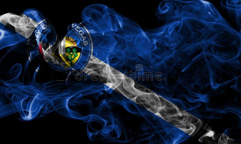 Σημαία καπνού πόλεων του Λας Βέγκας, κράτος της Νεβάδας, Πολιτεία Americ στοκ φωτογραφία