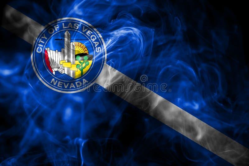Σημαία καπνού πόλεων του Λας Βέγκας, κράτος της Νεβάδας, Πολιτεία Americ στοκ εικόνα με δικαίωμα ελεύθερης χρήσης