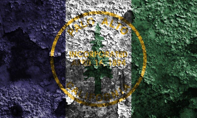 Σημαία καπνού πόλεων του Πάλο Άλτο, κράτος Καλιφόρνιας, Πολιτεία του AM στοκ εικόνες