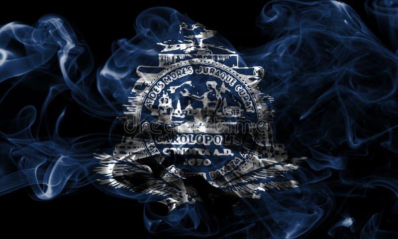 Σημαία καπνού πόλεων του Τσάρλεστον, νότια Καρολίνα κράτος, Ηνωμένες Πολιτείες στοκ εικόνα