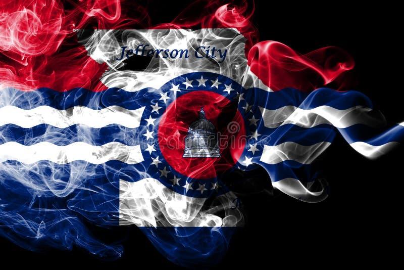 Σημαία καπνού πόλεων πόλεων του Jefferson, κράτος του Μισσούρι, Ηνωμένες Πολιτείες της Αμερικής διανυσματική απεικόνιση