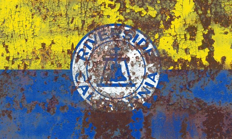 Σημαία καπνού πόλεων όχθεων ποταμού, κράτος Καλιφόρνιας, Πολιτεία του AM στοκ φωτογραφίες με δικαίωμα ελεύθερης χρήσης
