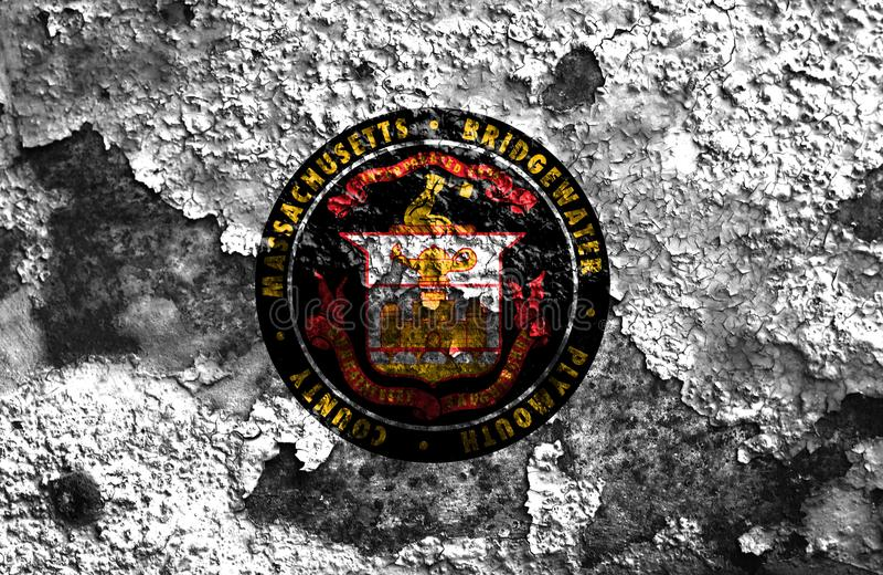 Σημαία καπνού πόλεων Bridgewater, κράτος της Μασαχουσέτης, Ηνωμένες Πολιτείες στοκ φωτογραφία με δικαίωμα ελεύθερης χρήσης