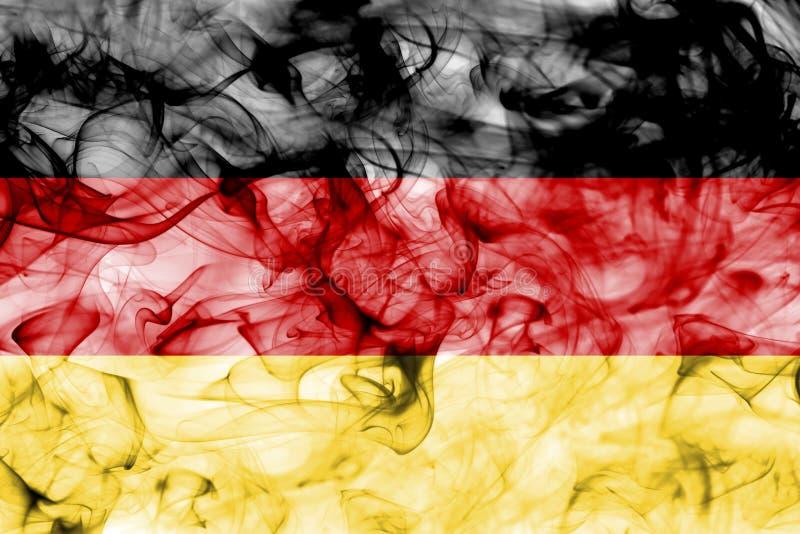 Σημαία καπνού της Γερμανίας που απομονώνεται σε ένα άσπρο υπόβαθρο στοκ εικόνα