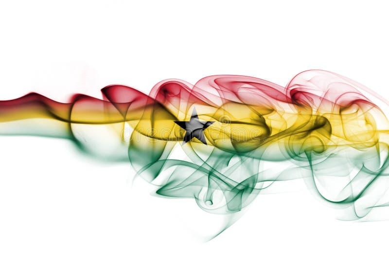 Σημαία καπνού της Γκάνας απεικόνιση αποθεμάτων