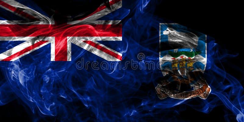 Σημαία καπνού των Νήσων Φώκλαντ, εξαρτώμενη σημαία βρετανικών υπερπόντιων εδαφών, έδαφος της Μεγάλης Βρετανίας απεικόνιση αποθεμάτων