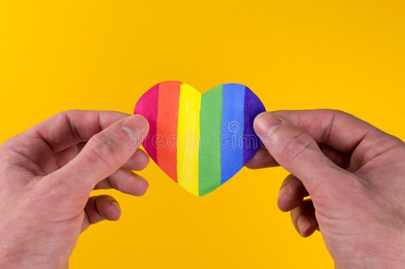 Σημαία καρδιών LGBT στοκ εικόνες με δικαίωμα ελεύθερης χρήσης