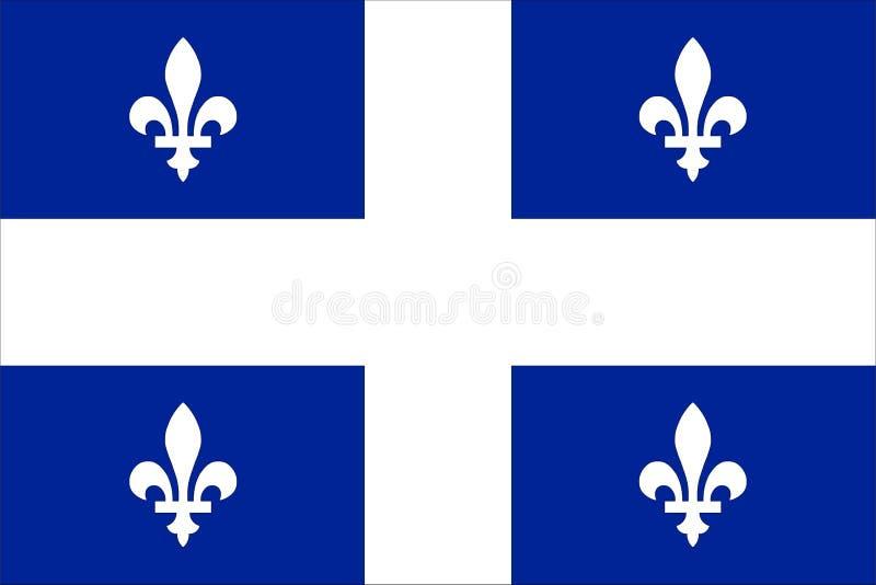 σημαία Κεμπέκ διανυσματική απεικόνιση