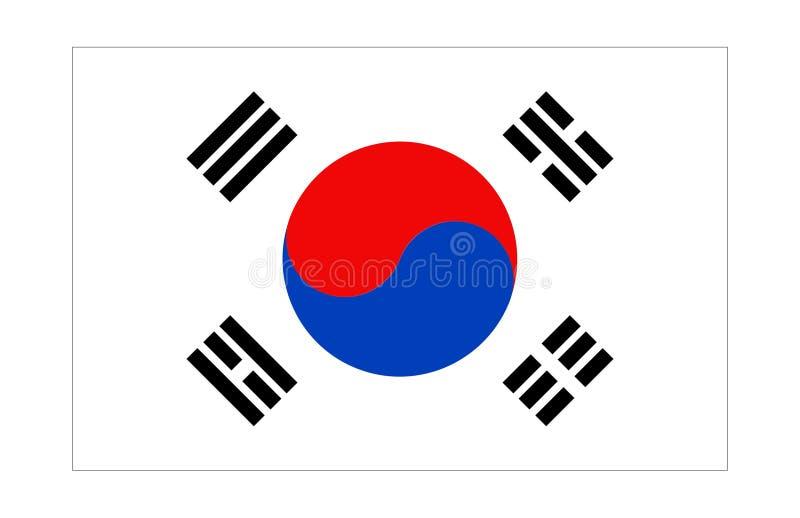 σημαία Κορέα ελεύθερη απεικόνιση δικαιώματος