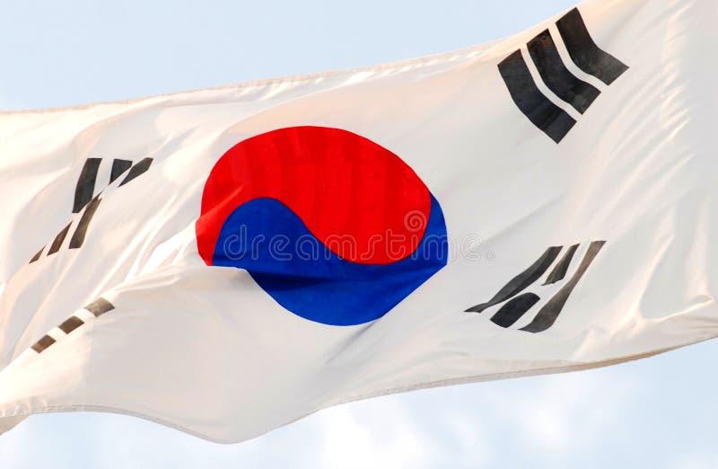 σημαία Κορεάτης στοκ φωτογραφίες