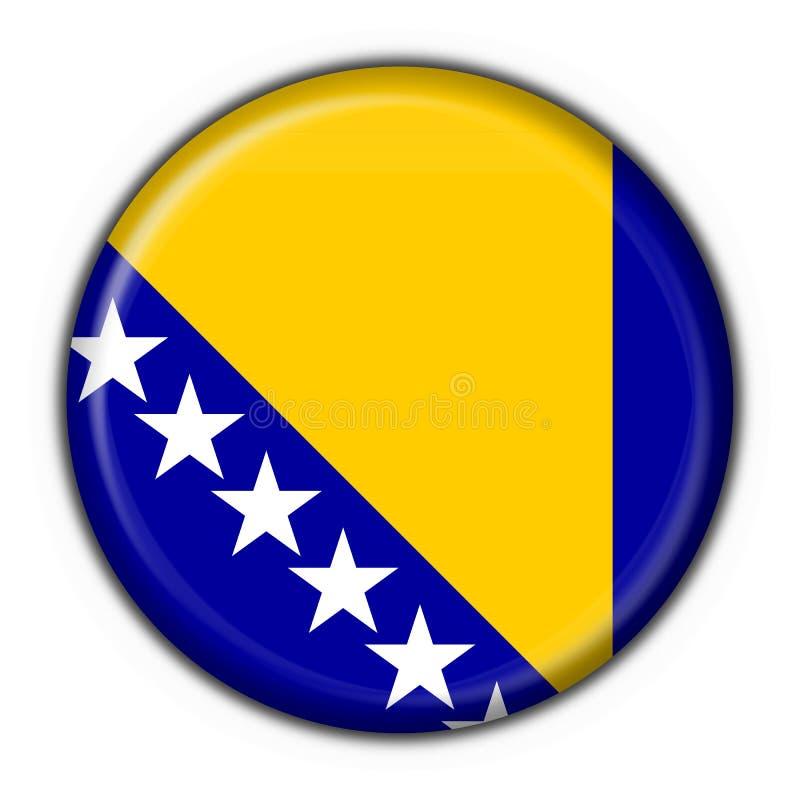 σημαία κουμπιών της Βοσνία διανυσματική απεικόνιση