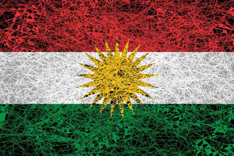 Σημαία Κουρδιστάν στοκ φωτογραφία με δικαίωμα ελεύθερης χρήσης