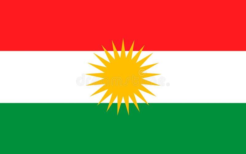 Σημαία Κουρδιστάν απεικόνιση αποθεμάτων