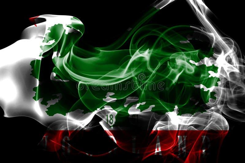 Σημαία κρατικού καπνού του Ουαϊόμινγκ, Ηνωμένες Πολιτείες της Αμερικής στοκ εικόνα με δικαίωμα ελεύθερης χρήσης