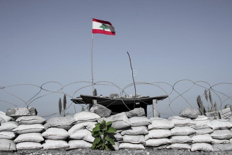 σημαία Λίβανος στοκ εικόνα με δικαίωμα ελεύθερης χρήσης