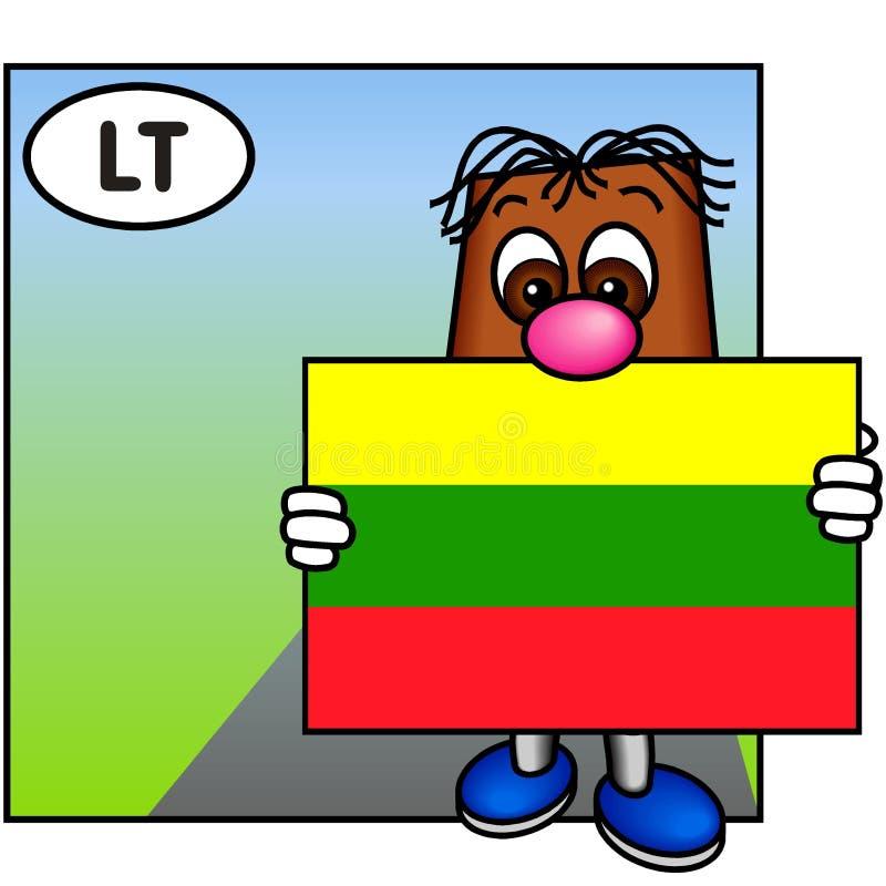 σημαία Λιθουανία διανυσματική απεικόνιση