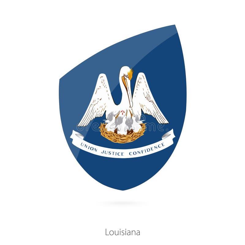 σημαία Λουιζιάνα διανυσματική απεικόνιση