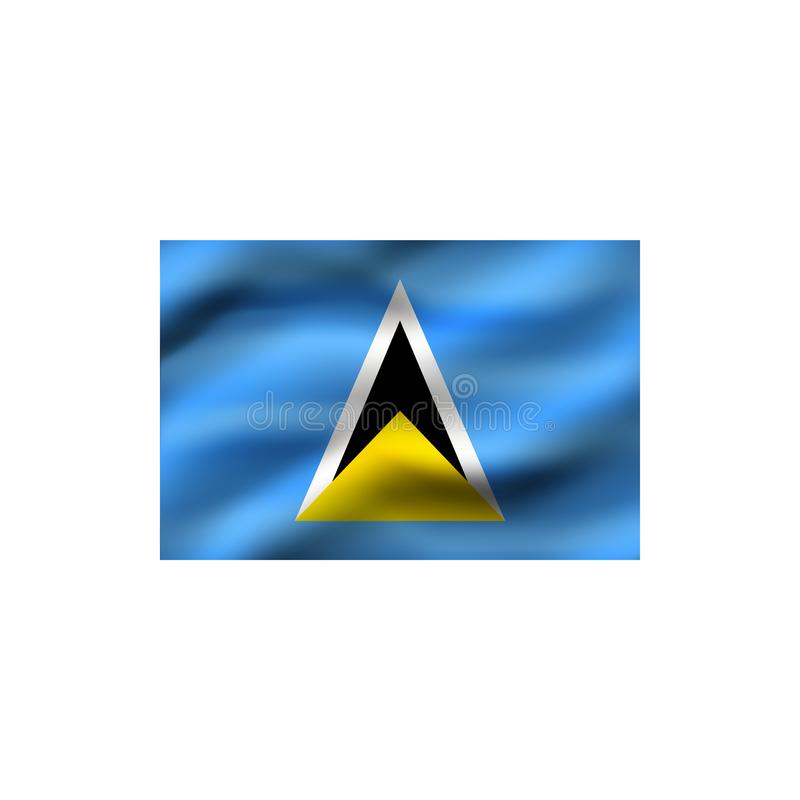 σημαία Λουκία Άγιος απεικόνιση αποθεμάτων