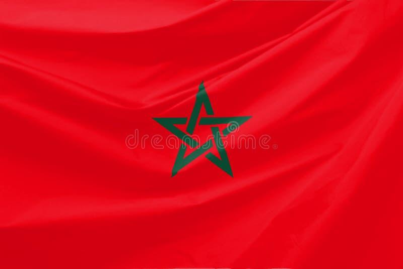 σημαία Μαρόκο στοκ φωτογραφία με δικαίωμα ελεύθερης χρήσης