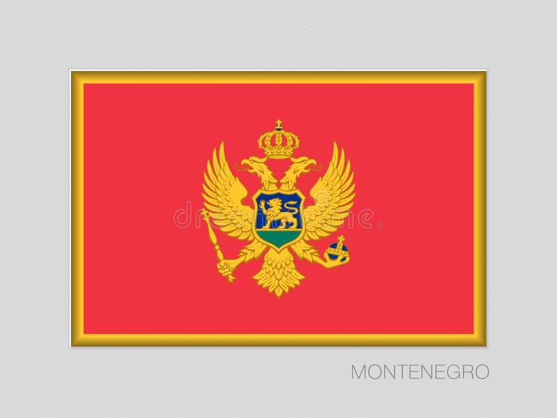 σημαία Μαυροβούνιο Εθνικός Ensign λόγος διάστασης 2 έως 3 σε γκρίζο ελεύθερη απεικόνιση δικαιώματος