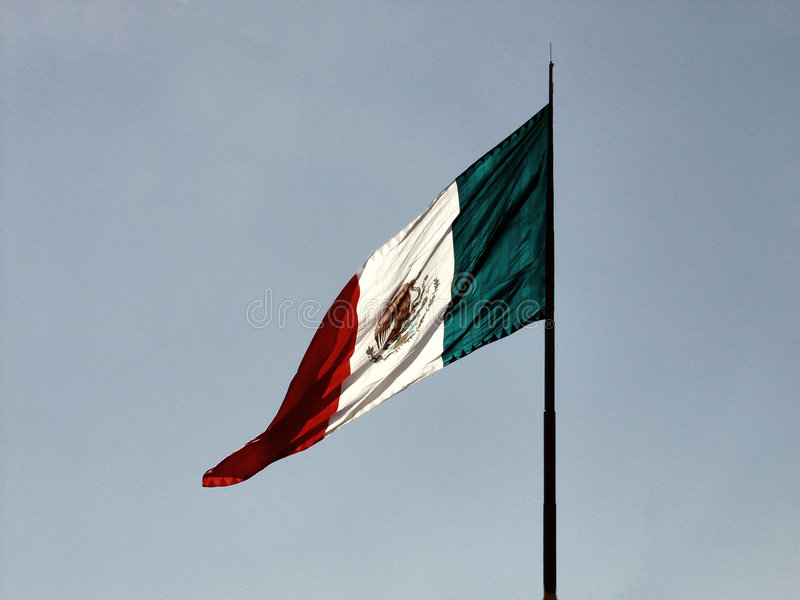 Download σημαία μεξικανός στοκ εικόνα. εικόνα από πόλος, βακκινίων - 42141